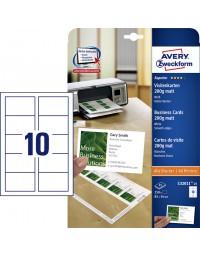 Visitekaart avery c32011-25 85x54mm 200gr 250stuks