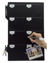 Krijtbord securit silhouette weekplanner zwart + 1 marker