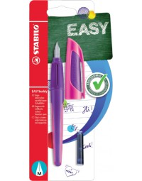 Vulpen stabilo easybuddy rechtshandig paars/magenta blister