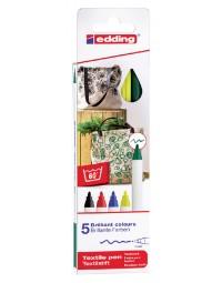 Viltstift edding 4600 textiel rond 1mm basis assorti