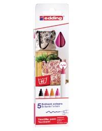 Viltstift edding 4600 textiel rond 1mm warm assorti