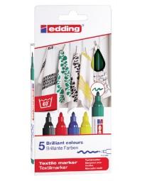 Viltstift edding 4500 textiel rond 2-3mm basis assorti