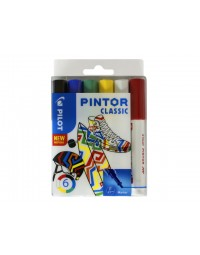 Viltstift pilot pintor classic 1.0mm ass etui à 6 stuks assorti