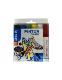 Viltstift pilot pintor classic 1.4mm ass etui à 6 stuks assorti