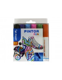 Viltstift pilot pintor fun 1.4mm ass etui à 6 stuks assorti
