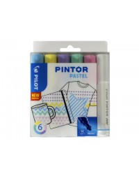 Viltstift pilot pintor pastel 1.4mm ass etuis à 6 stuks assorti