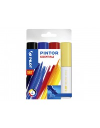 Viltstift pilot pintor essentials 8mm etui à 4 stuks ass