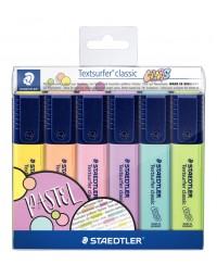 Markeerstift staedtler 364 textsurfer pastel set à 6 stuks assorti