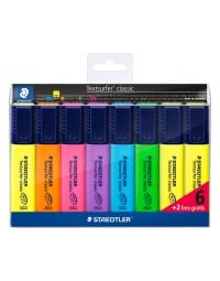 Markeerstift staedtler 364 textsurfer set à 6 stuks assorti + 2 geel gratis