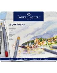 Kleurpotloden faber castell goldfaber aquarel blik à 24 stuks assorti