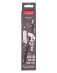 Potlood bruynzeel 6021 burotek hb met gum