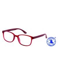 Leesbril +3.00 regenboog donkerrood