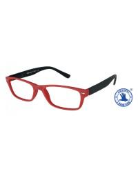 Leesbril +1.00 feeling rood-zwart