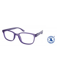 Leesbril +1.00 regenboog lila
