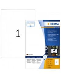 Etiket herma 9543 a4 210x297mm polyester 40stuks wit
