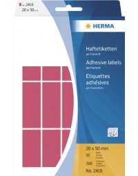 Etiket herma 2416 20x50mm fluor rood 360stuks