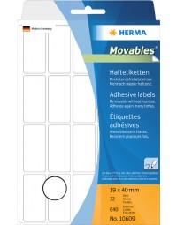 Etiket herma 10609 19x40mm verwijderbaar 640stuks