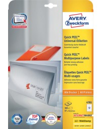 Etiket avery zweckform 4781 97x42.3mm wit 300stuks