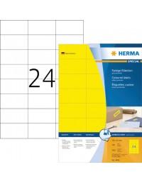 Etiket herma 4406 70x37mm geel 2400stuks