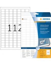 Etiket herma 4211 25.4x16.9mm verwijderbaar wit 2800stuks