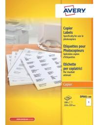 Etiket avery dp001-100 210x297 kopieren 100stuks