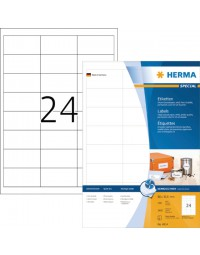 Etiket herma 4814 66x33.8mm wit 2400stuks