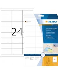 Etiket herma 4681 66x33.8mm transparant 600stuks