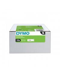 Labeltape dymo 45803 d1 19mmx7m zwart op wit 10rol