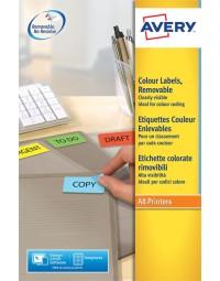Etiket avery l6041-20 45.7x21.2mm geel 960stuks