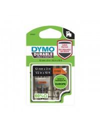 Labeltape dymo durable 1978367 12mmx3m zwart op oranje