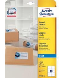 Etiket avery j8173-25 99.1x57mm wit 250stuks