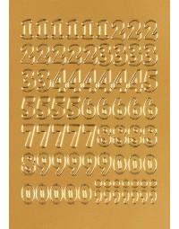 Etiket herma 4184 12mm getallen 0-9 goudfolie 66stuks