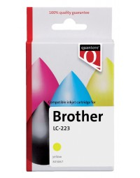Inkcartridge quantore brother lc-223 geel