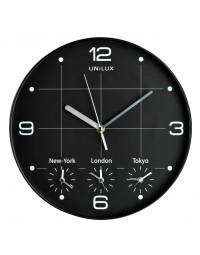 Wandklok unilux on time Ø30,5cm zwart/wit