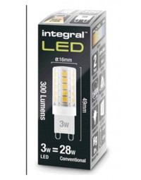 Ledlamp integral g9 3w 2700k warm licht 300lumen