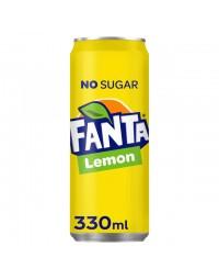 Frisdrank fanta lemon zero blikje 0.33l
