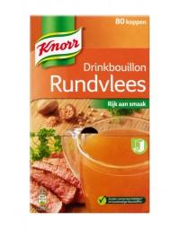 Knorr drinkbouillon rundvlees 80 zakjes