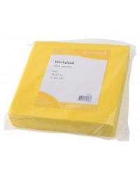 Werkdoek non woven geel 38x40cm 10 stuks