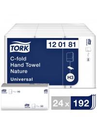 Handdoek tork h3 120181 universal 1laags 25x31cm 24x192st