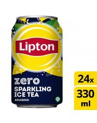 Frisdrank lipton ice tea sparkling zero blikje 0.33l