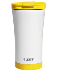 Koffiebeker thermo leitz wow geel