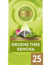 Thee lipton exclusive groene thee sencha 25 piramidezakjes