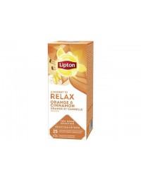 Thee lipton relax sinaasappel kaneel 25stuks