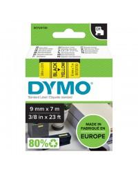 Labeltape dymo 40918 d1 720730 9mmx7m zwart op geel
