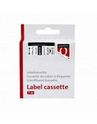 Labeltape quantore 45013 12mmx7m zwart op wit