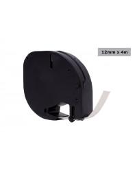 Labeltape quantore 12267 12mmx4m transparant zwart