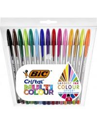 Bic® cristal® multicolour balpen blister à 15 stuks