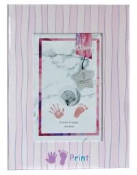 Baby boek met gipsafdruk ROSE meisje