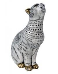 Gestippelde Kat beeld 23 cm