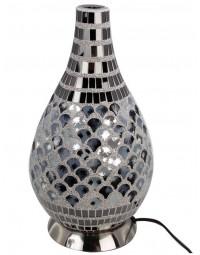 New Dutch - mozaïek glazen lamp - staand - 220 volt - grijs/blauw 34.5 cm